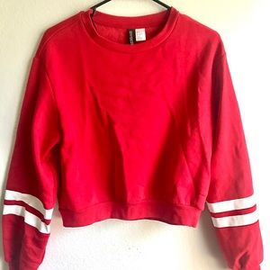 H&M Sweaters | Women's Red/White Striped Pullover